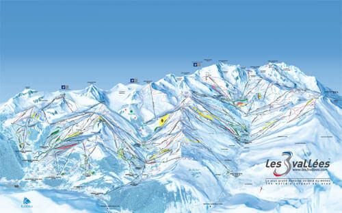 3 Valleys Piste Map, France