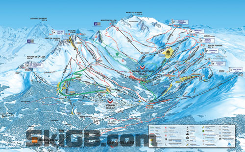 Image of the Meribel Piste Map, France