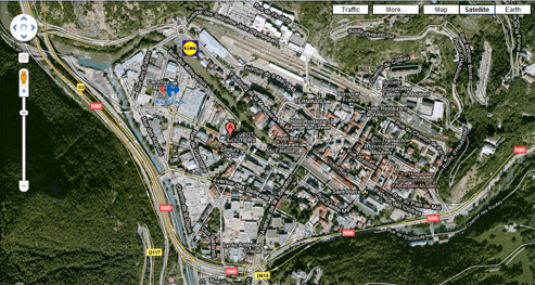 Map of Moutiers, France