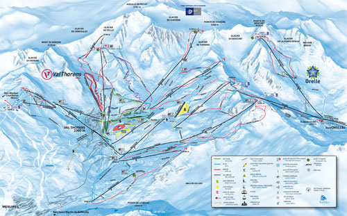 Image of the Val Thorens Piste Map, France