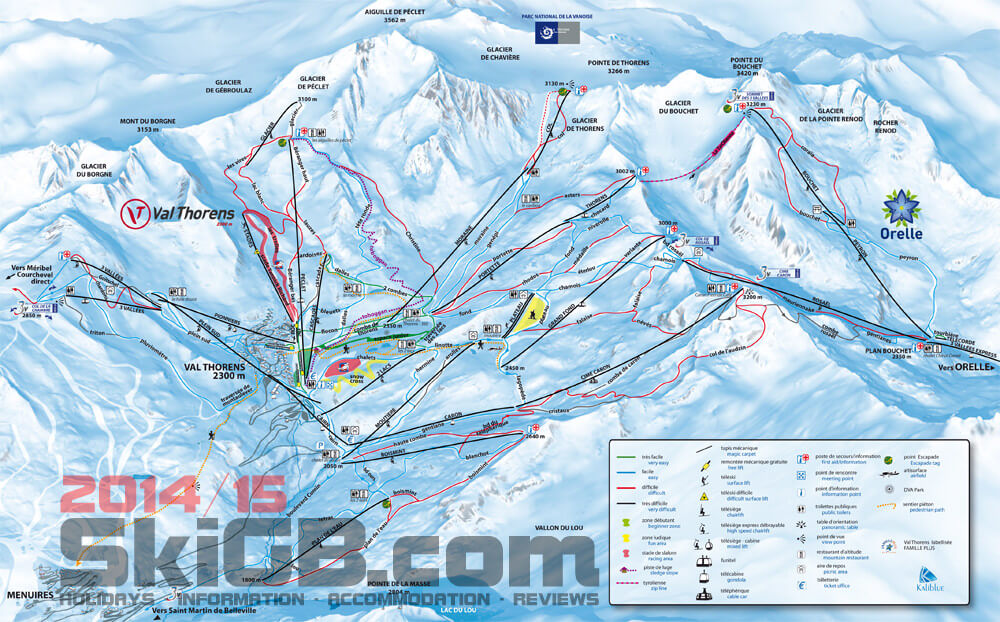 Val Thorens Piste Maps up to date easy to use