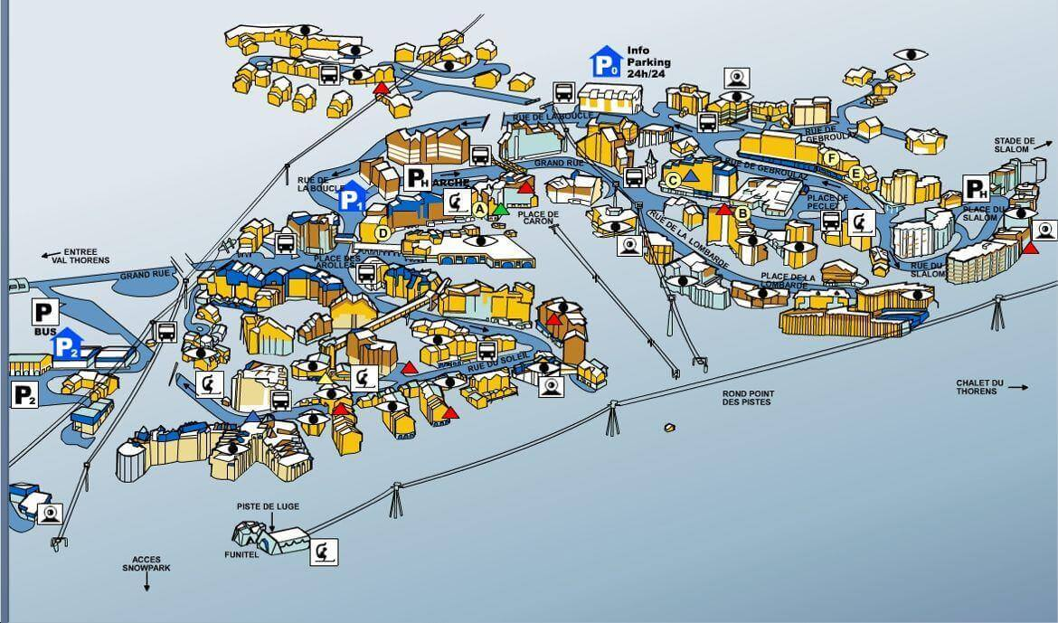 Val Thorens Resort Map