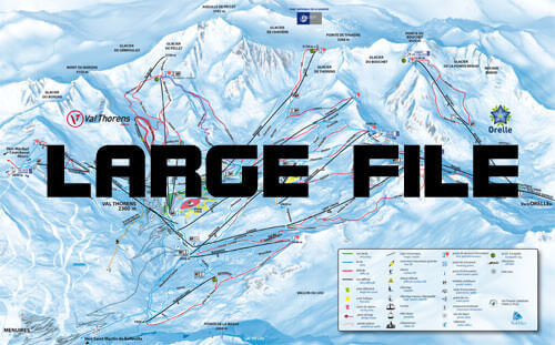Piste map three valleys