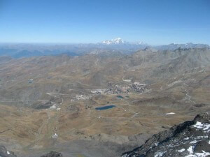 Val Thorens and Mont Blanc in the Summer