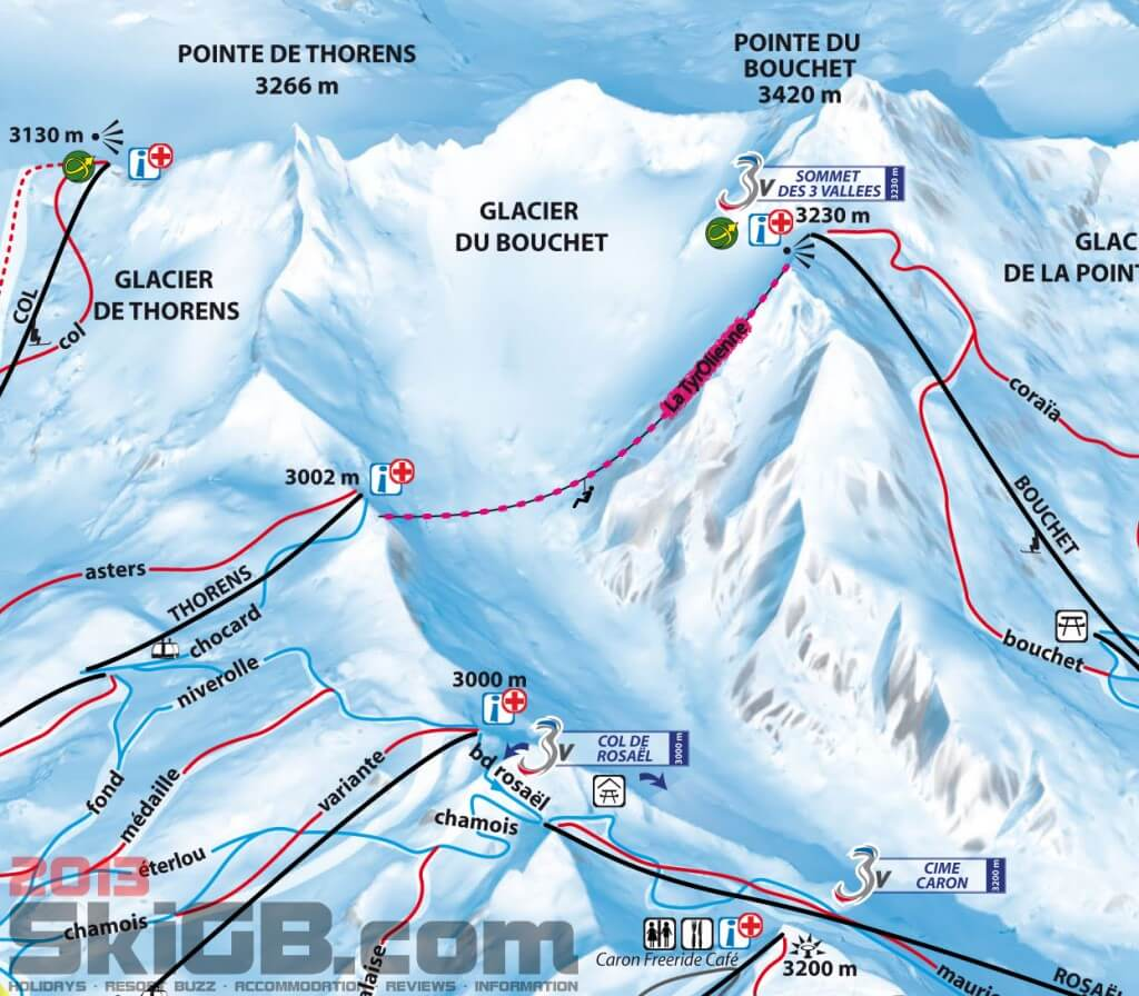 Val Thorens Zip Wire Location